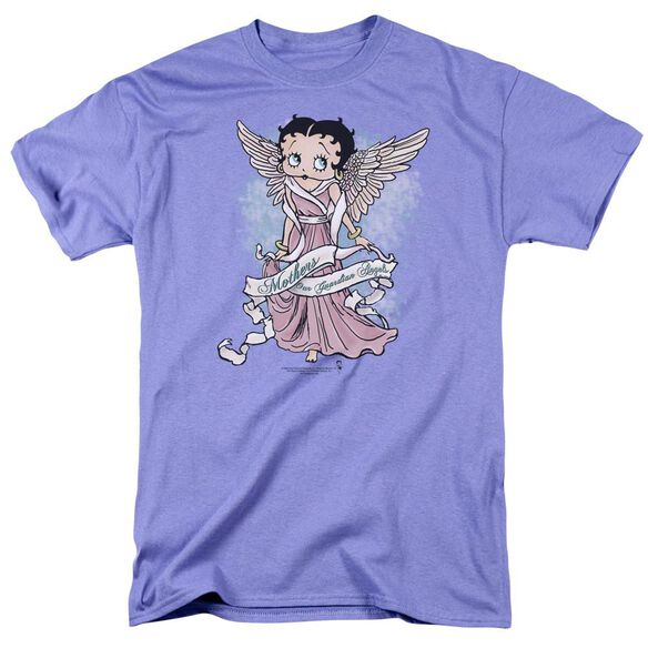 Betty Boop Mother Guardian Angel Short Sleeve Adult Lavendar T-Shirt