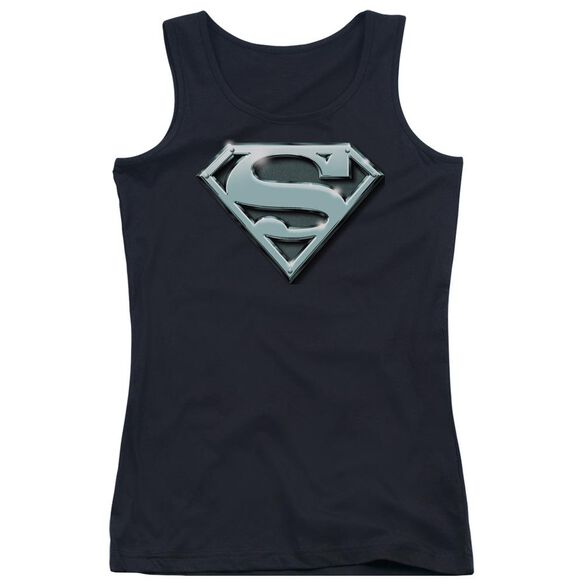 Superman Chrome Shield Juniors Tank Top