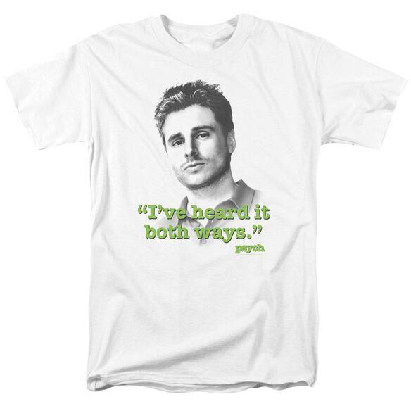 Psych Both Ways Short Sleeve Adult T-Shirt