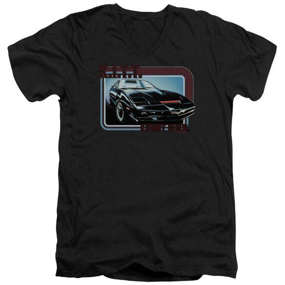 Knight Rider Kitt Short Sleeve Adult V Neck T-Shirt