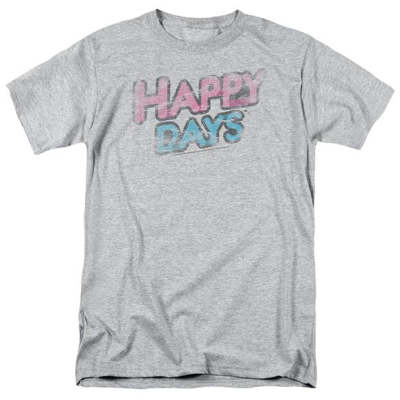 Happy Days Distressed Short Sleeve Adult T-Shirt