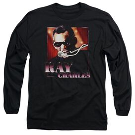 RAY CHARLE ING IT - L/S ADULT 18/1 - BLACK T-Shirt