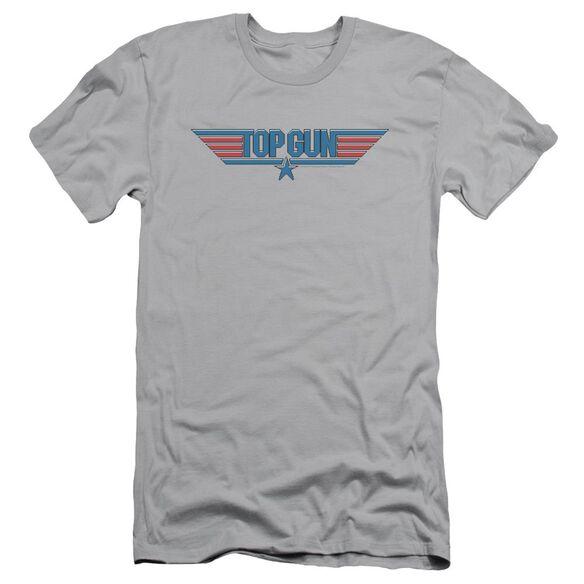 Top Gun 8 Bit Logo Short Sleeve Adult T-Shirt