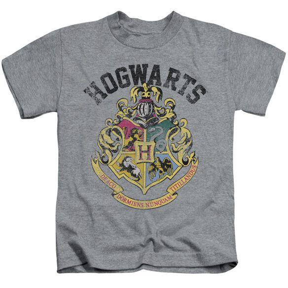 Harry Potter Hogwarts Crest Short Sleeve Juvenile Athletic T-Shirt