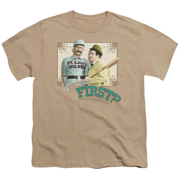Abbott & Costello Who's On First Short Sleeve Youth T-Shirt