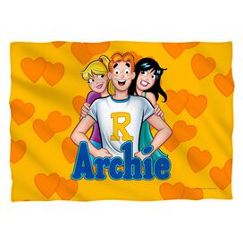 Archie Love Triangle Pillow Case White