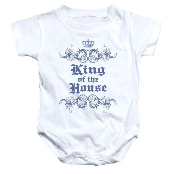 King Of The House Infant Snapsuit White Lg