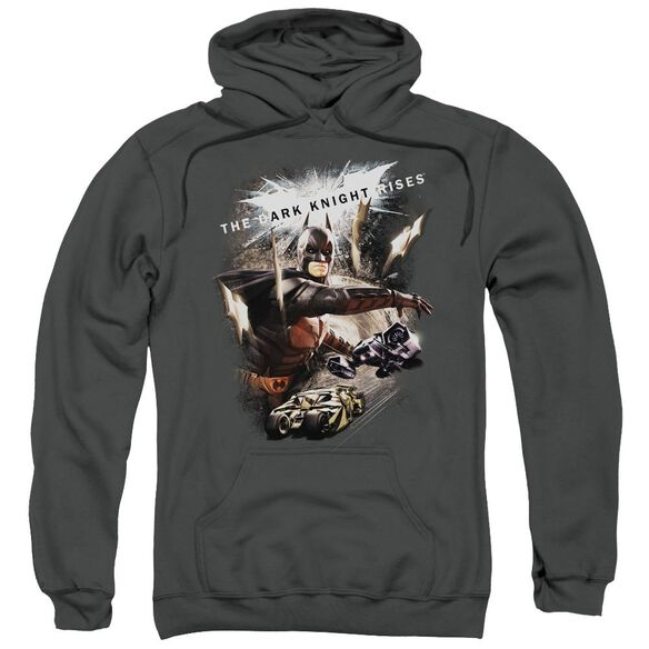 Dark Knight Rises Imagine The Fire Adult Pull Over Hoodie