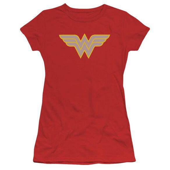 Dc Ww Logo Short Sleeve Junior Sheer T-Shirt