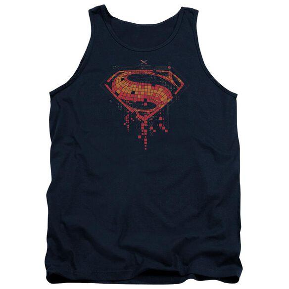 Batman V Superman Tech Super Logo Adult Tank