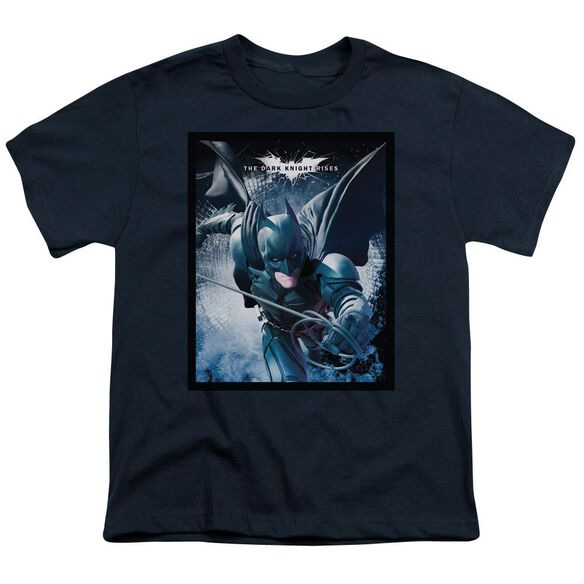 Dark Knight Rises Swing Into Action Short Sleeve Youth T-Shirt