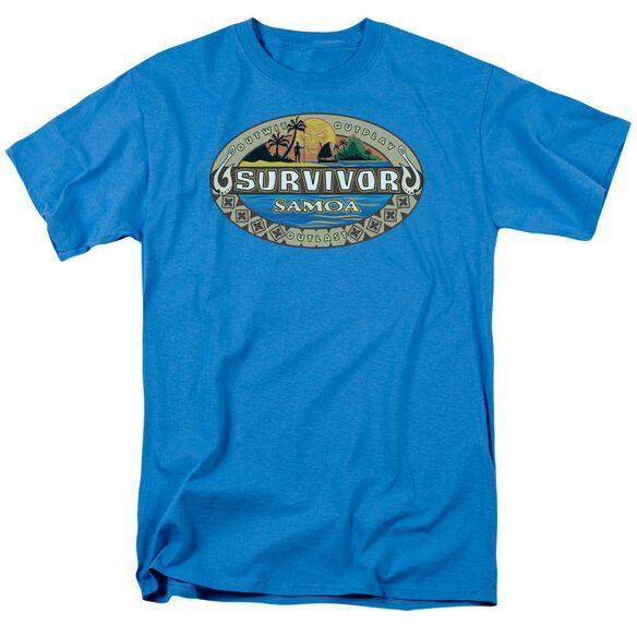 SURVIVOR SAMOA LOGO - S/S ADULT 18/1 - TURQUOISE T-Shirt