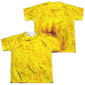 Sesame Street Big Bird Costume (Front Back Print) Short Sleeve Youth Poly Crew T-Shirt