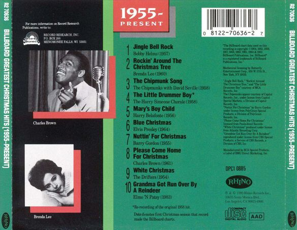 Billbrd Xmas Hits 1955 Pr