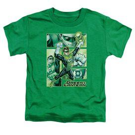 Jla Green Lantern Panels Short Sleeve Toddler Tee Kelly Green Sm T-Shirt