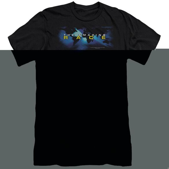 AMAZING RACE FADED GLOBE - S/S ADULT 30/1 - BLACK T-Shirt