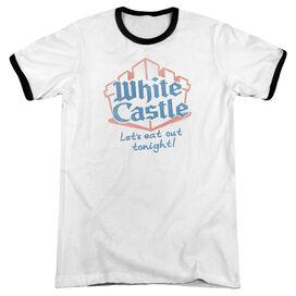 White Castle Lets Eat Adult Ringer White Black
