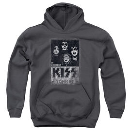 Kiss Live-youth Pull-over Hoodie - Charcoal