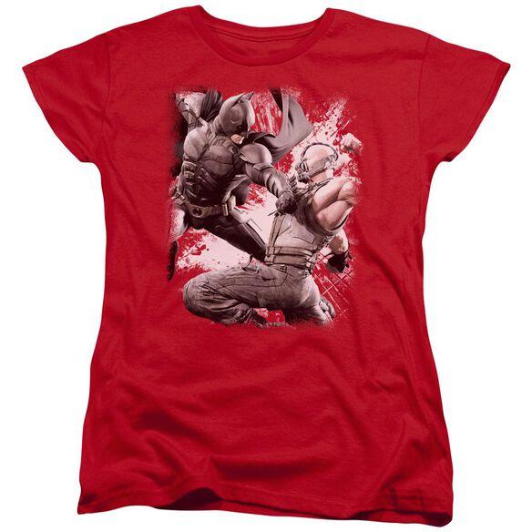 Dark Knight Rises Final Fight Short Sleeve Womens Tee T-Shirt