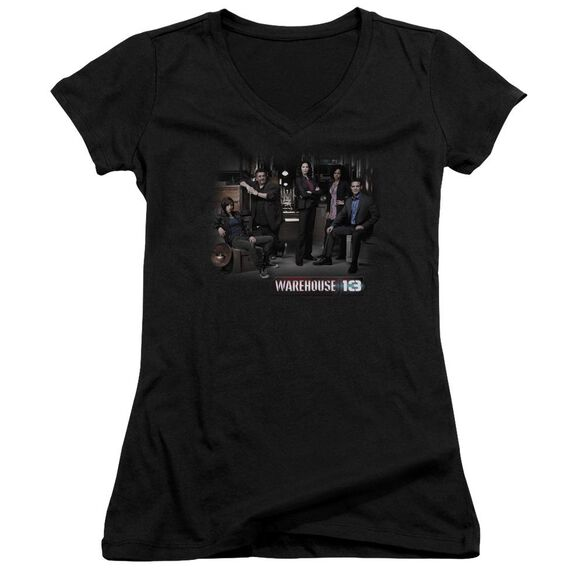 Warehouse 13 Warehouse Cast Junior V Neck T-Shirt