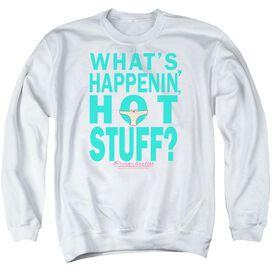 Breakfast Club Whats Happenin - Adult Crewneck Sweatshirt - White