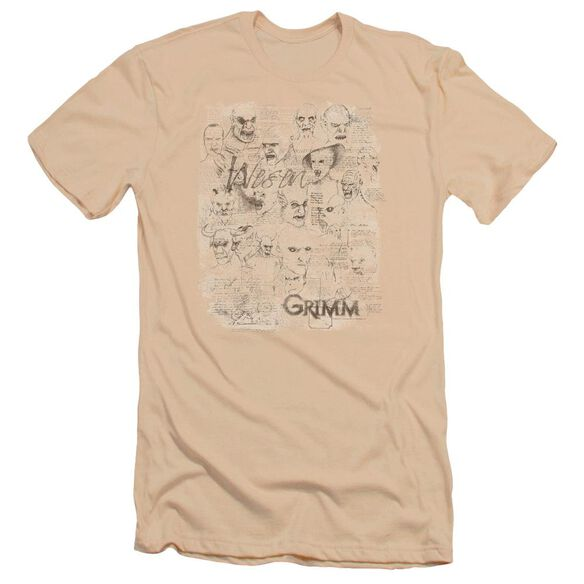 Grimm Wesen Sketches Premuim Canvas Adult Slim Fit