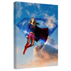 Supergirl Up In The Sky Canvas Wall Art With Back Board