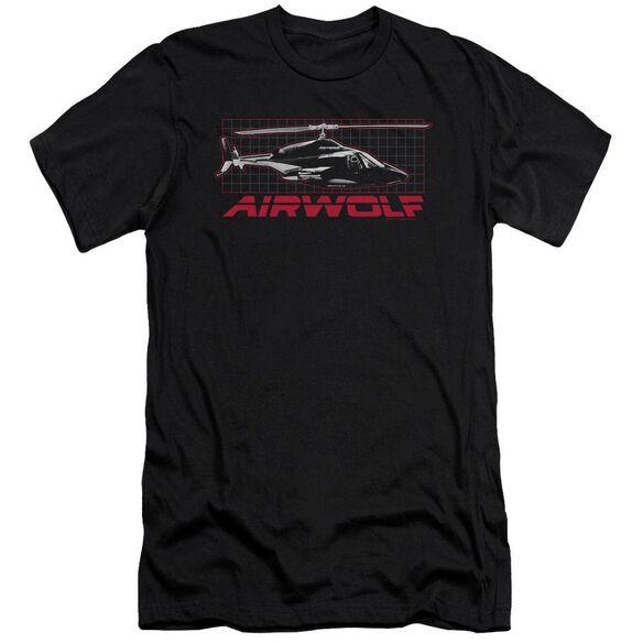 Airwolf Grid Short Sleeve Adult T-Shirt