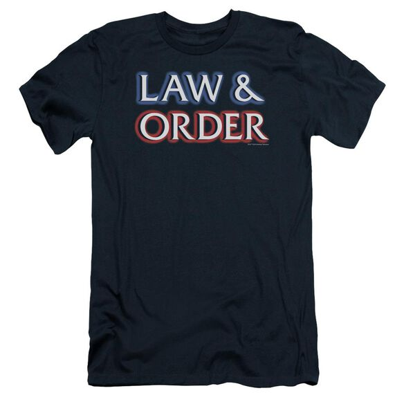 Law And Order Logo Short Sleeve Adult T-Shirt
