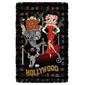 Betty Boop Hollywood Nights Woven Throw