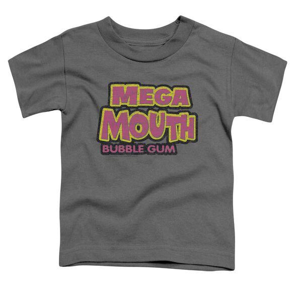 Dubble Bubble Mega Mouth Short Sleeve Toddler Tee Charcoal Md T-Shirt