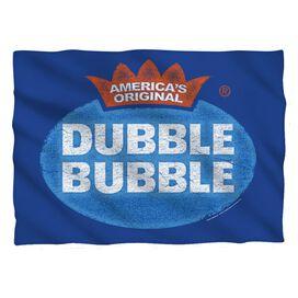 Dubble Bubble Vintage Logo Pillow Case White
