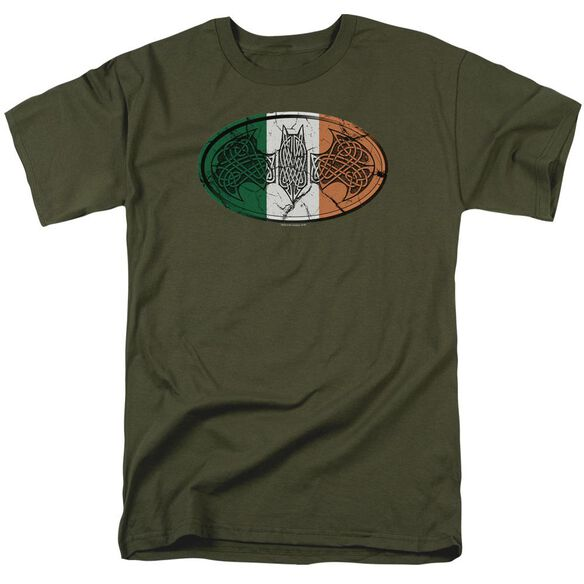 Batman Irish Celtic Symbol Short Sleeve Adult Military T-Shirt