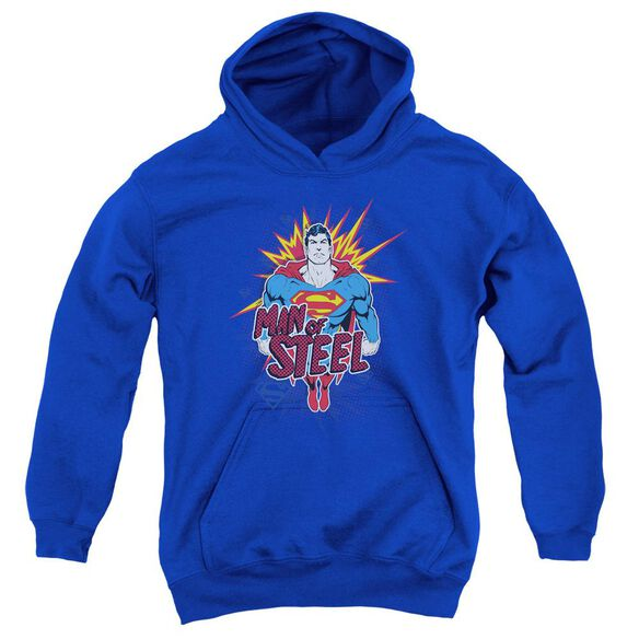 Superman Steel Pop Youth Pull Over Hoodie