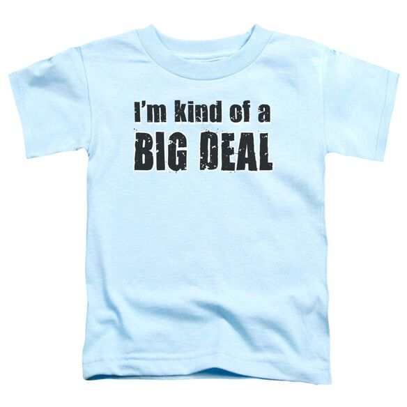 Big Deal Short Sleeve Toddler Tee Light Blue Lg T-Shirt