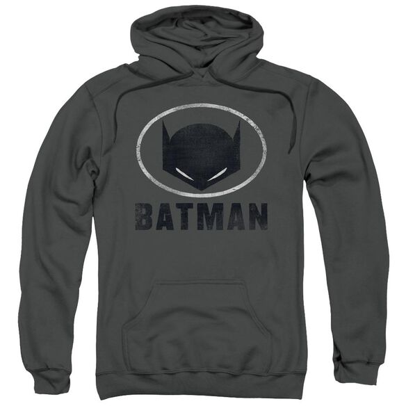Batman Mask In Oval Adult Pull Over Hoodie