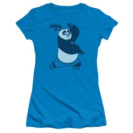 Kung Fu Panda Fighting Stance Short Sleeve Junior Sheer T-Shirt