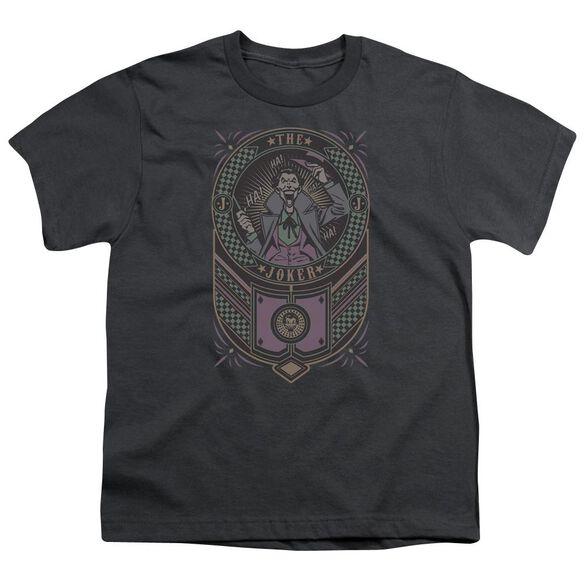 Batman Joker Checkered Sign Short Sleeve Youth T-Shirt