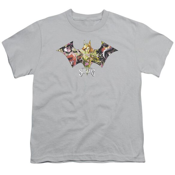 BATMAN SIRENS BAT - S/S YOUTH 18/1 - SILVER T-Shirt