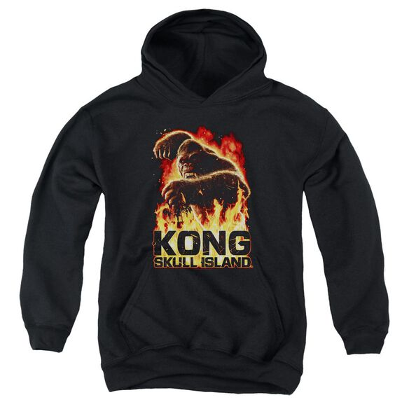 Kong Skull Island Out Of The Fire Youth Pull Over Hoodie