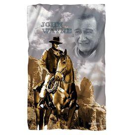 John Wayne Ride Em Cowboy Fleece Blanket