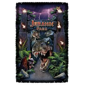 Jurassic Park Welcome To The Park Woven Throw