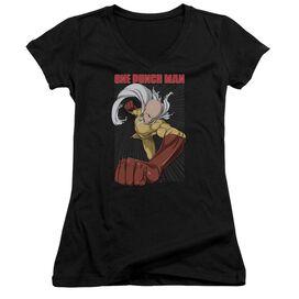 One Punch Man Heroic Fist Junior V Neck T-Shirt