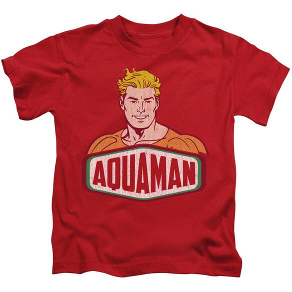 Dco Aquaman Sign Short Sleeve Juvenile Red T-Shirt