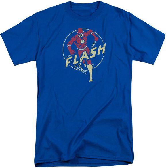 Dc Flash Flash Comics Short Sleeve Adult Tall Royal T-Shirt