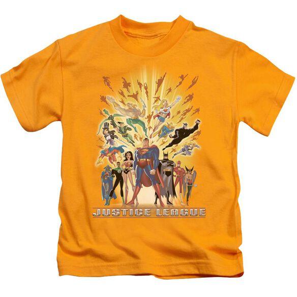 Jla United Short Sleeve Juvenile Gold T-Shirt