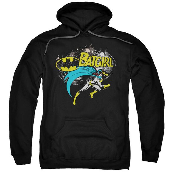 Batman Batgirl Halftone Adult Pull Over Hoodie