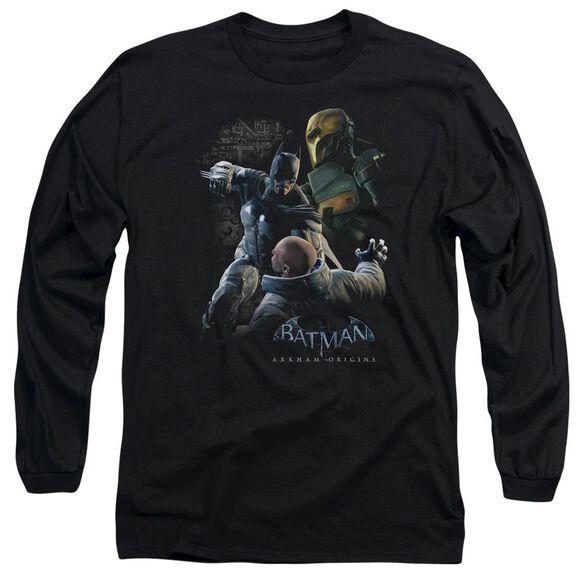 Batman Arkham Origins Punch Long Sleeve Adult T-Shirt