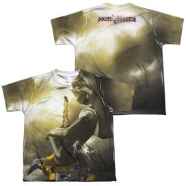 Power Rangers Yellow Zord Poster (Front Back Print) Short Sleeve Youth Poly Crew T-Shirt
