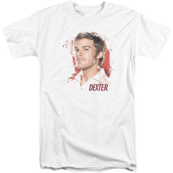 Dexter Blood Splatter Short Sleeve Adult Tall T-Shirt